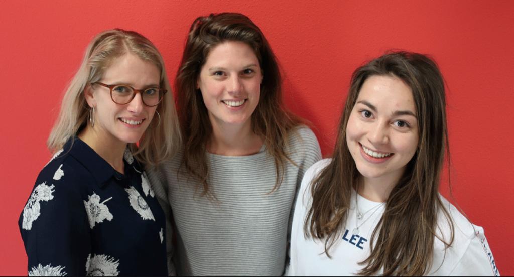HR team van ICM: Lieke Bosch, Mariëlle van Wieringen, Cristel van den Heuvel